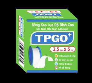 Băng Keo Lụa Độ Dính Cao TPGO+  (2.5cm x 5m)